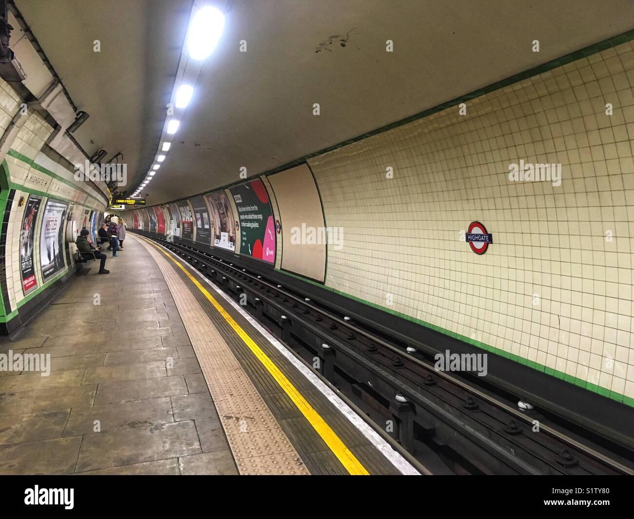 Highgate Underground Station in London, England - Stock Image
