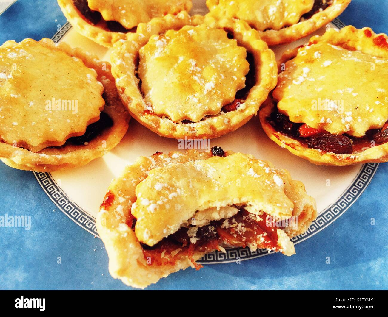 Homemade mince pies - Stock Image