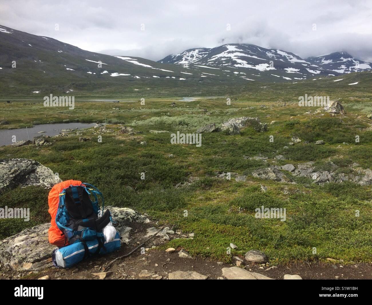 Kungsleden, hike in Northern Sweden - Stock Image