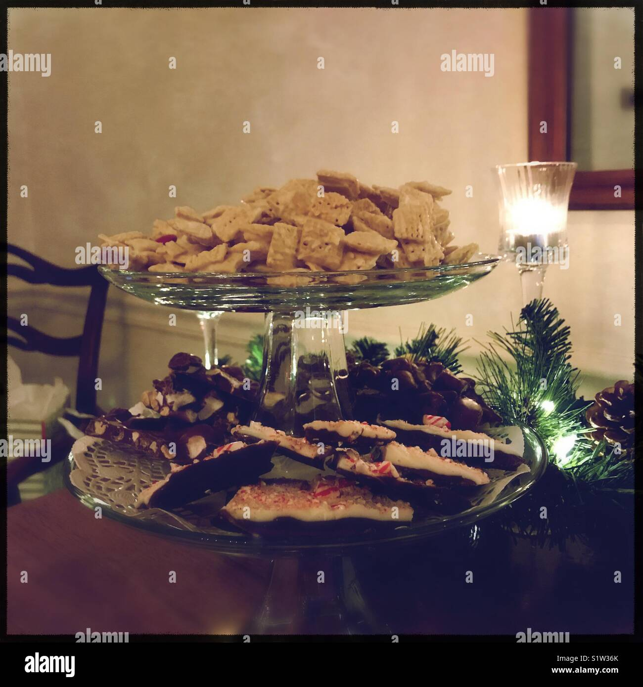 Christmas deserts - Stock Image
