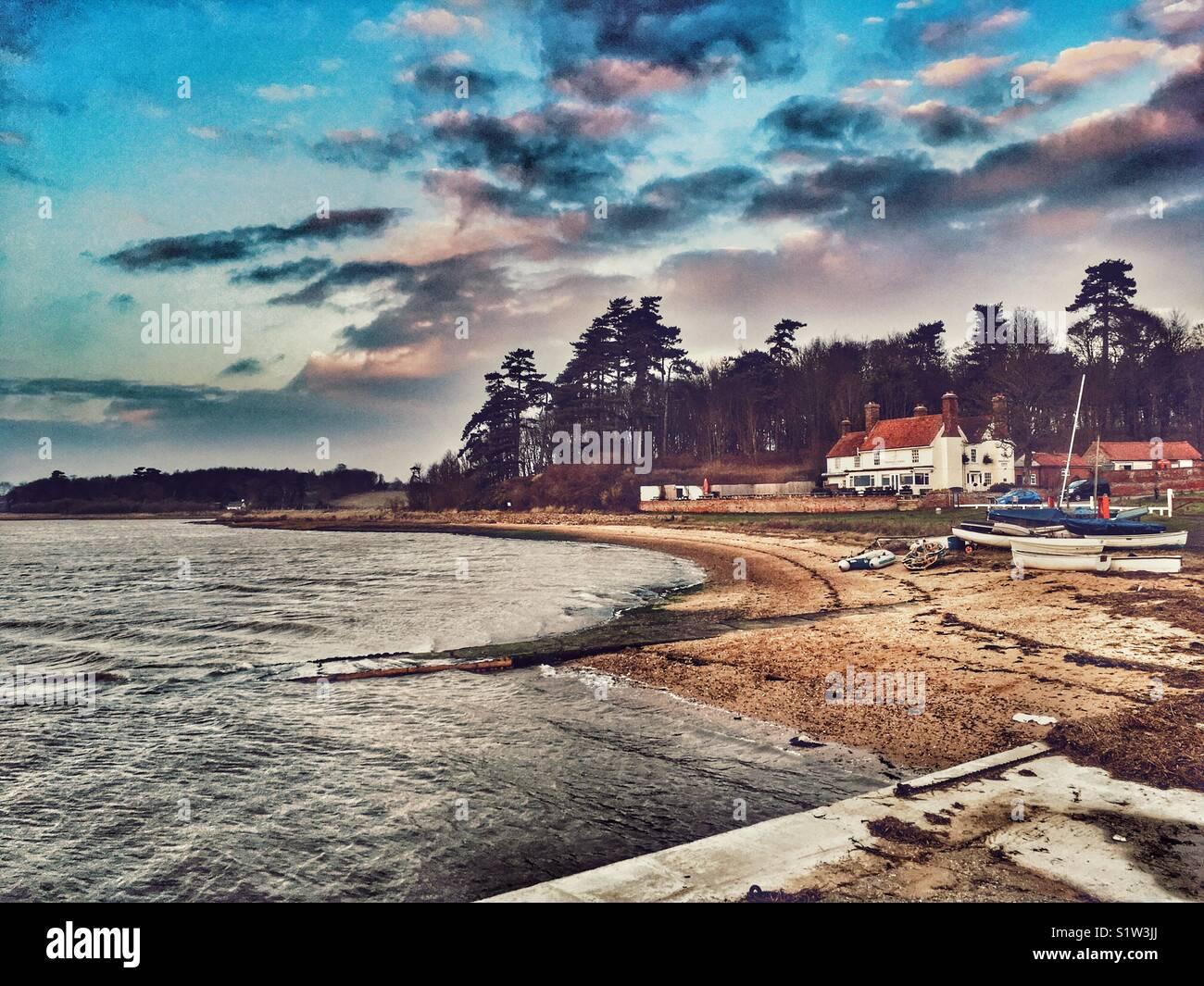 River Deben, Ramsholt, Suffolk, England. - Stock Image