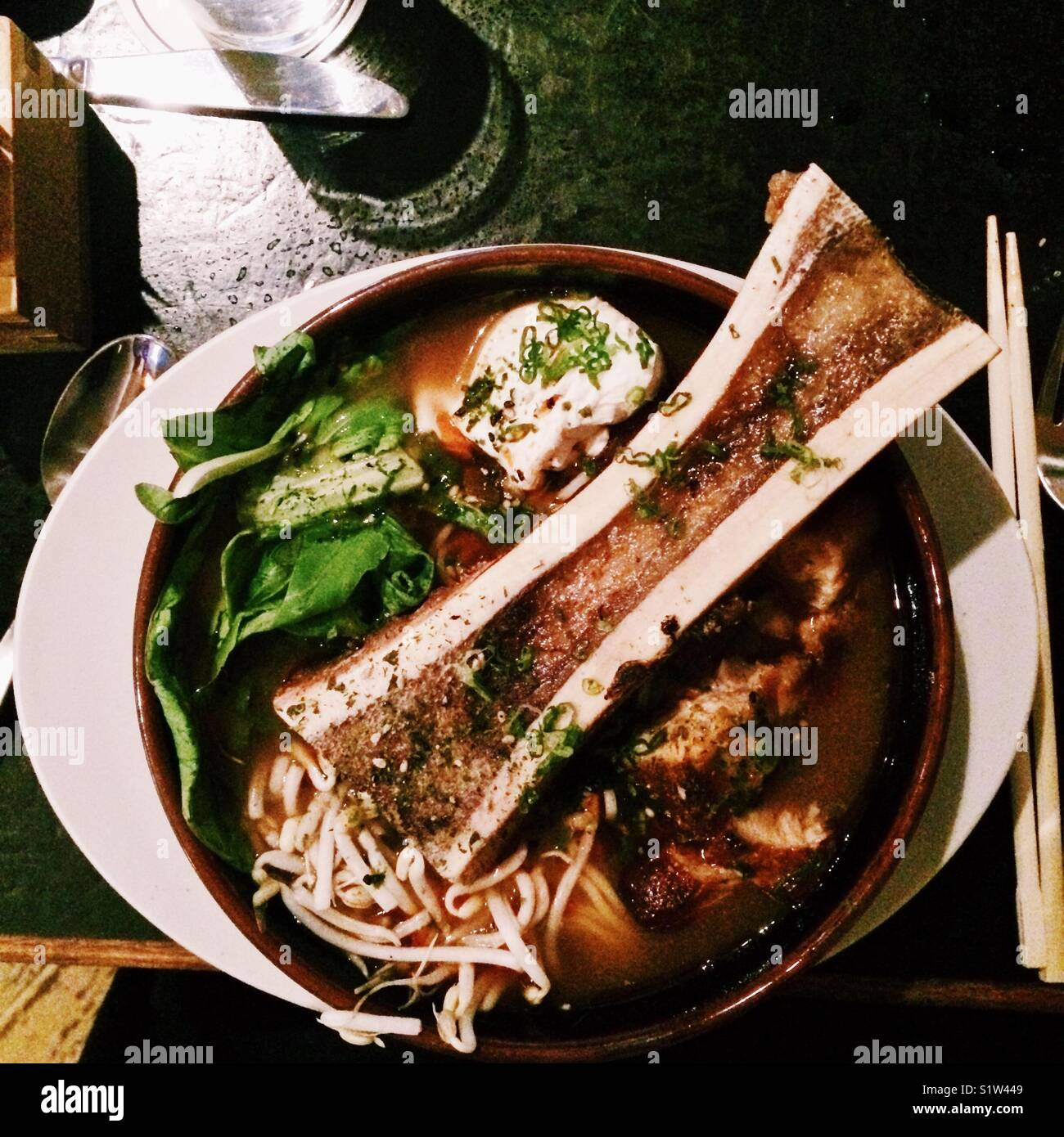 Bone Marrow Ramen - Stock Image