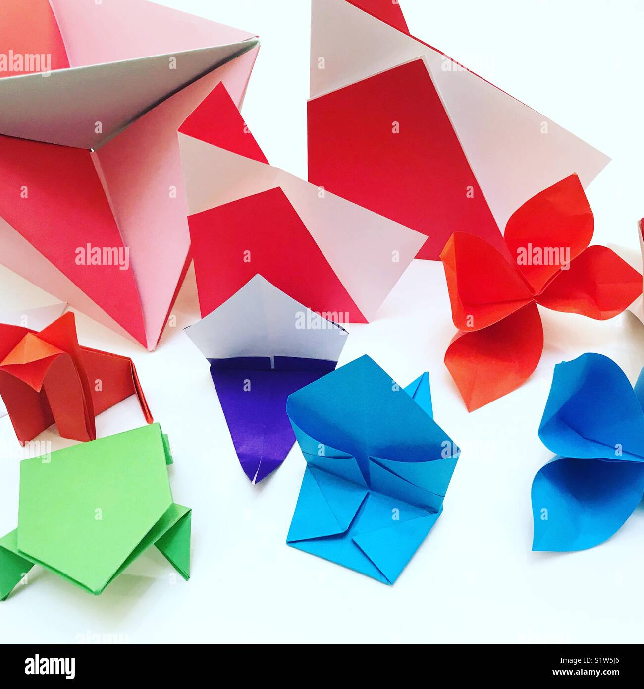 Origami creations - Stock Image