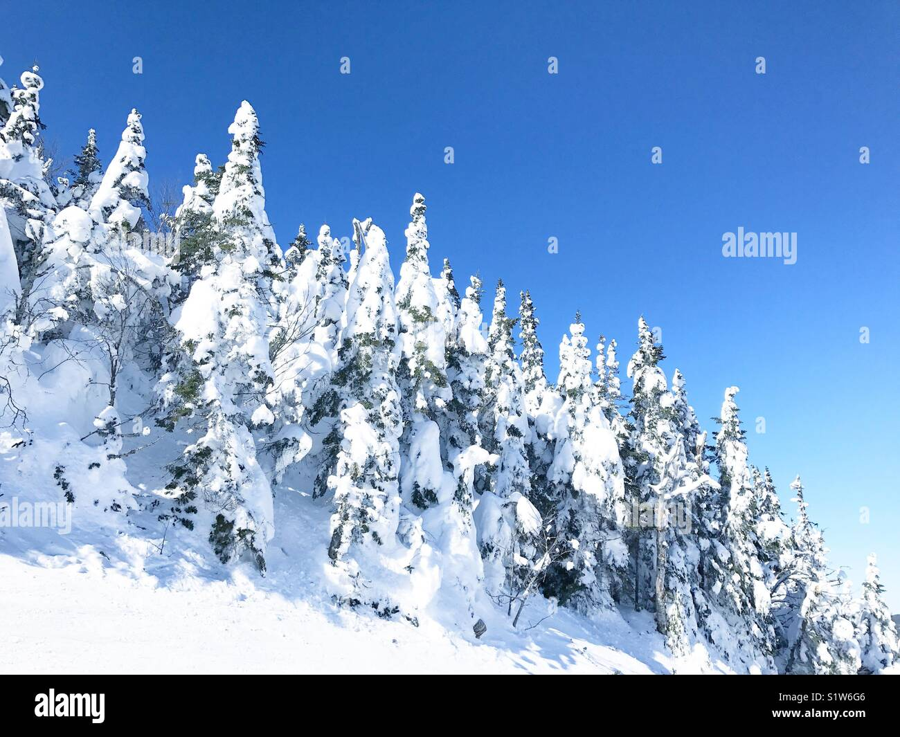 Winter in Mont Tremblant Canada - Stock Image