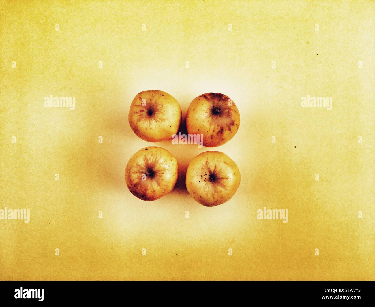 Opal English apples from Norfolk - Stock Image