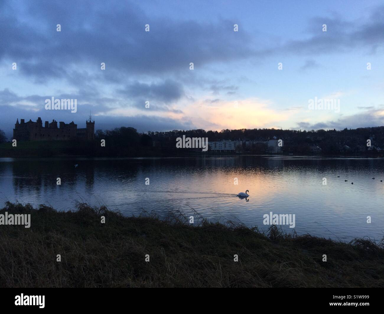 Sunset at the Loch - Stock Image