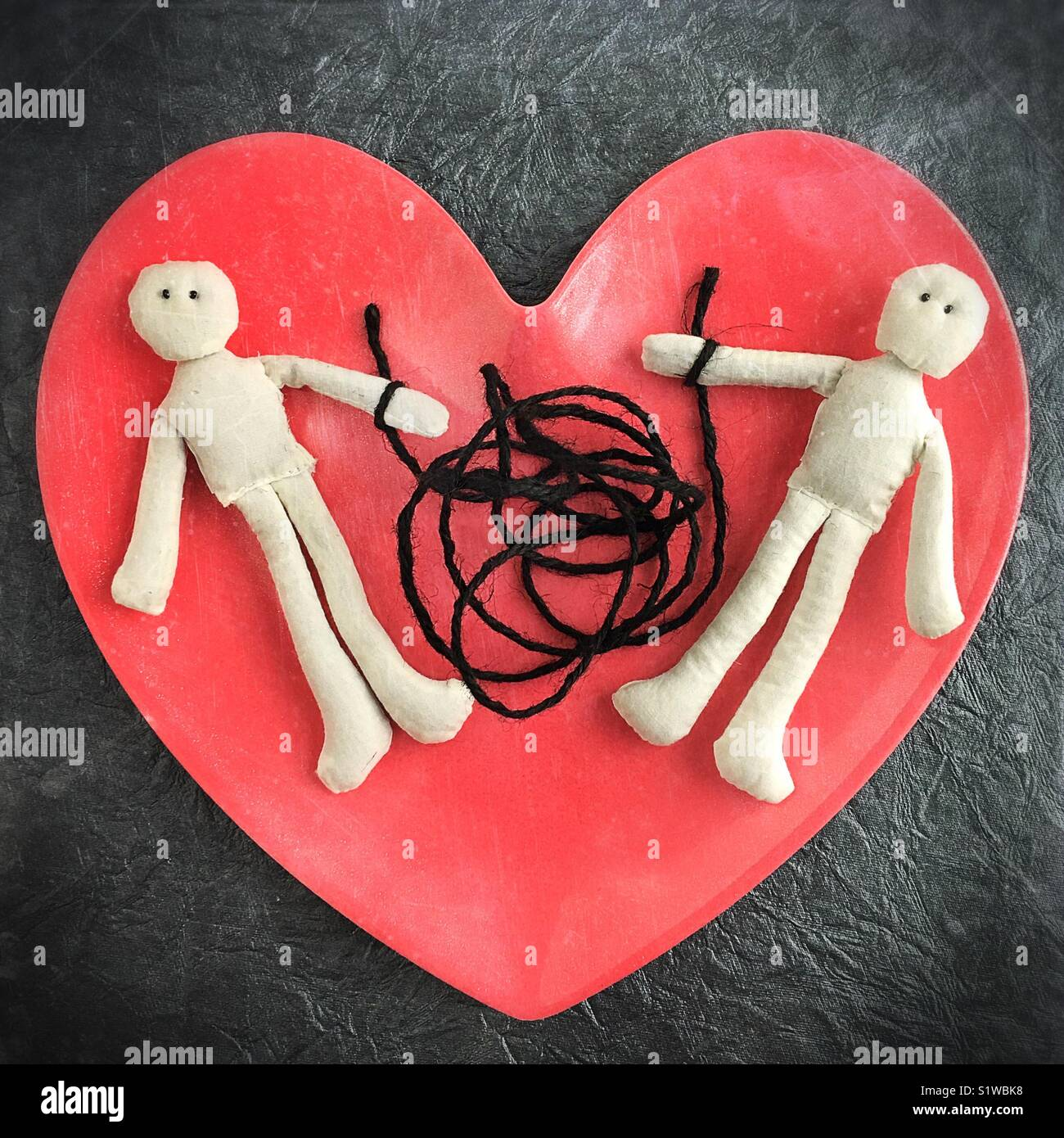 Conceptual dysfunctional relationship. - Stock Image