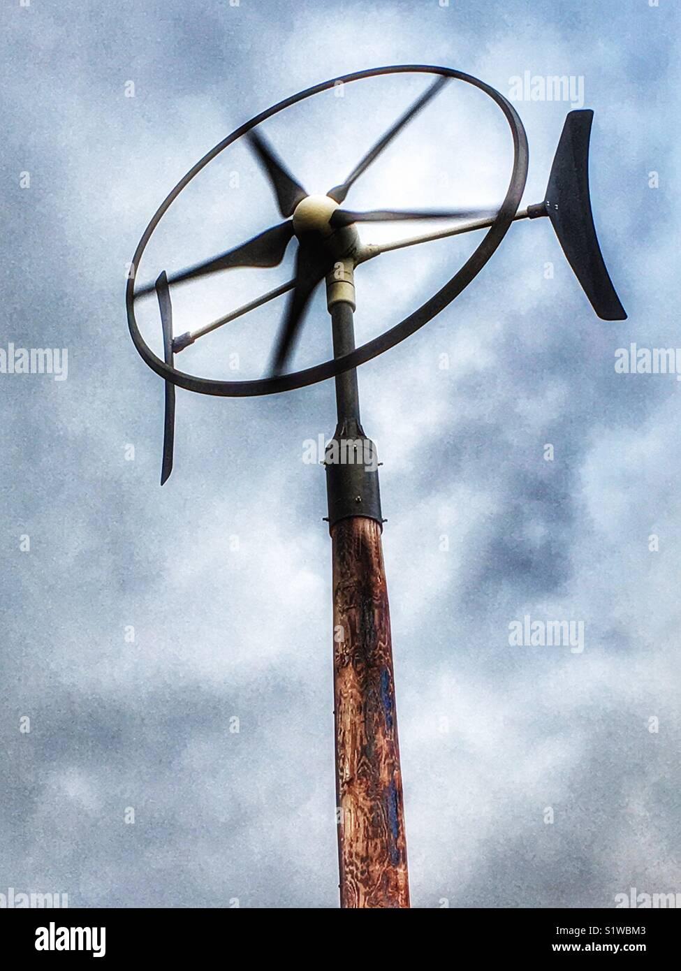 Domestic wind turbine UK - Stock Image