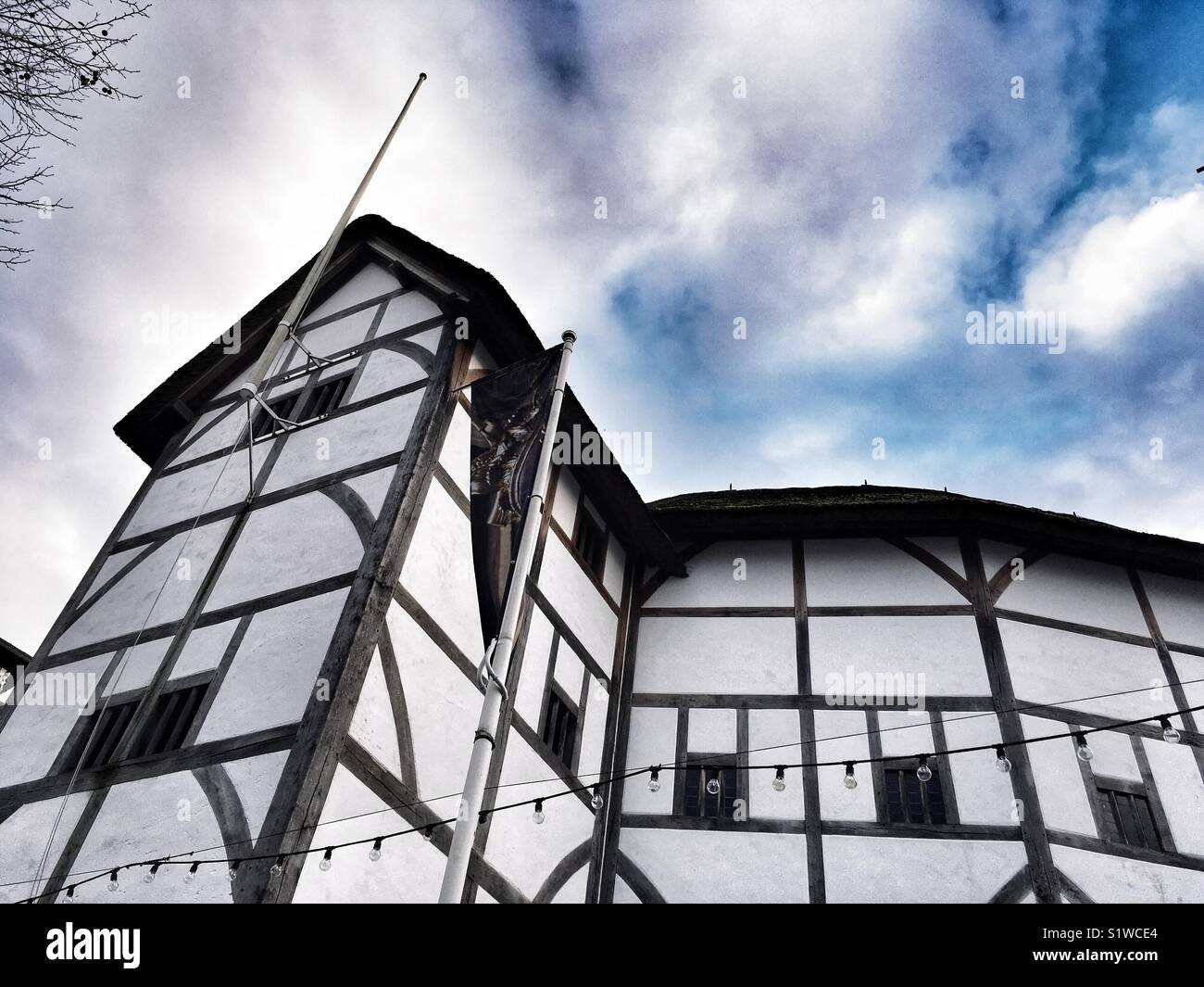 Shakespeare's Globe at Bankside, London in England - Stock Image