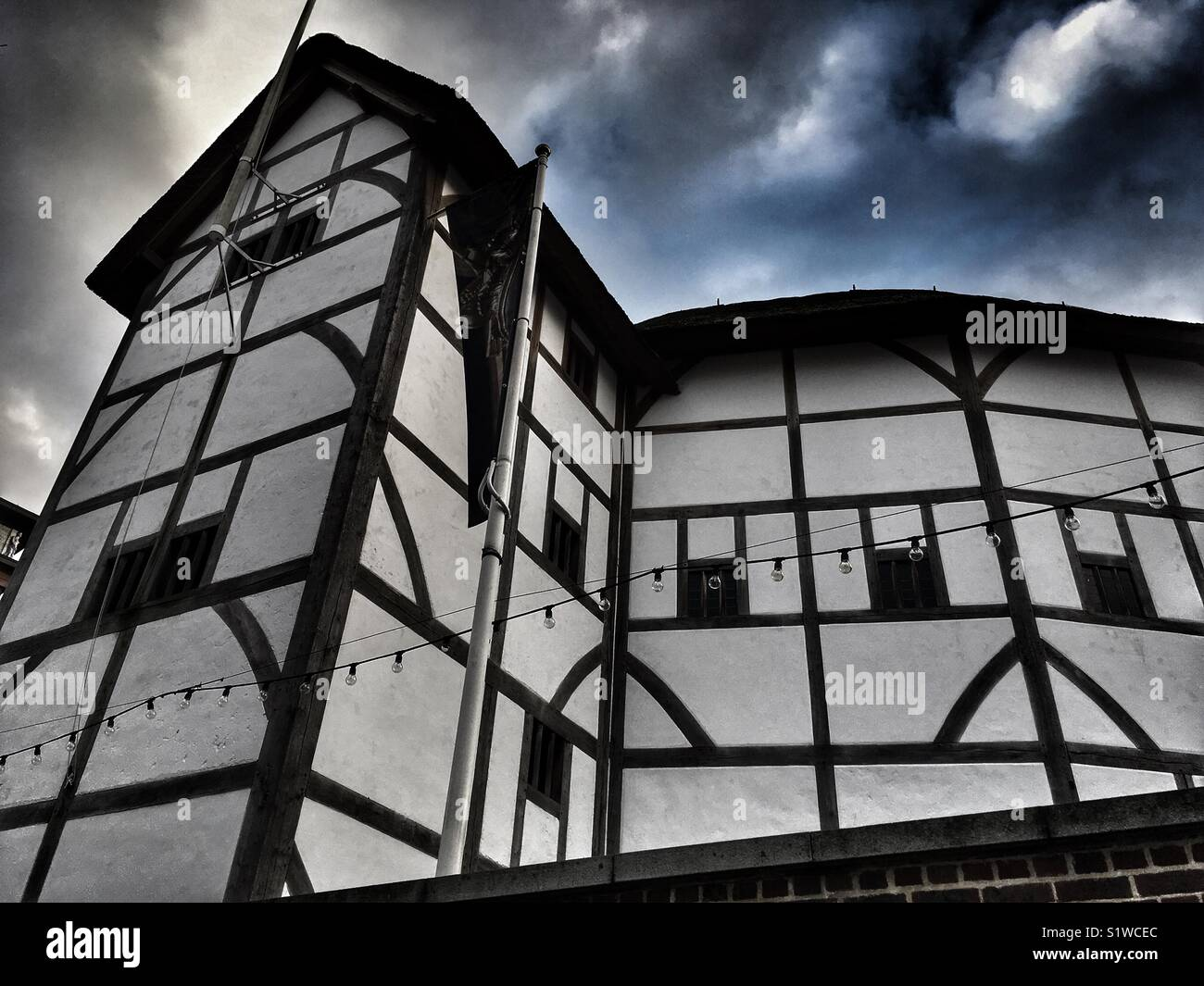 Shakespeare's Globe at Bankside in London, England - Stock Image