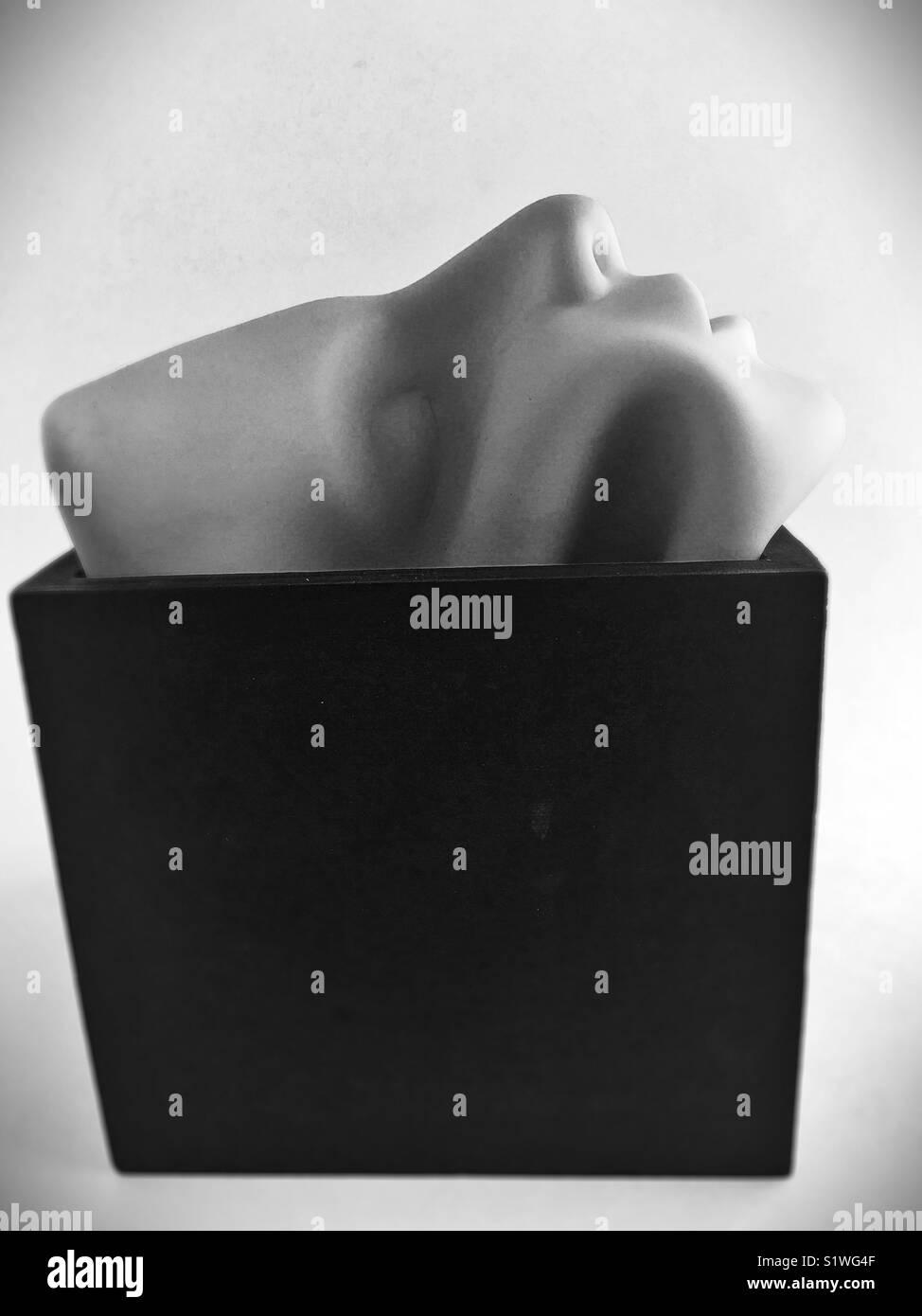 Conceptual: outside the box. - Stock Image