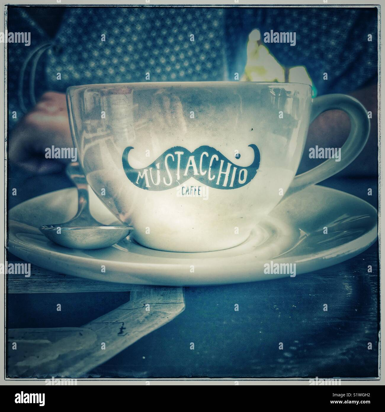 Mustacchio Cafee, Kloof Street, Cape Town. - Stock Image