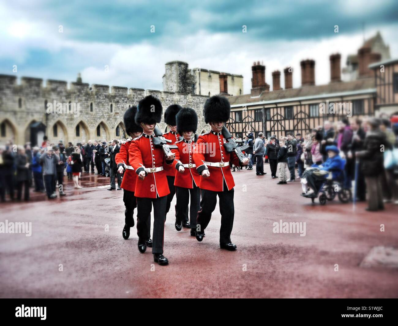 Changing of the guard at Windsor Castle Stock Photo