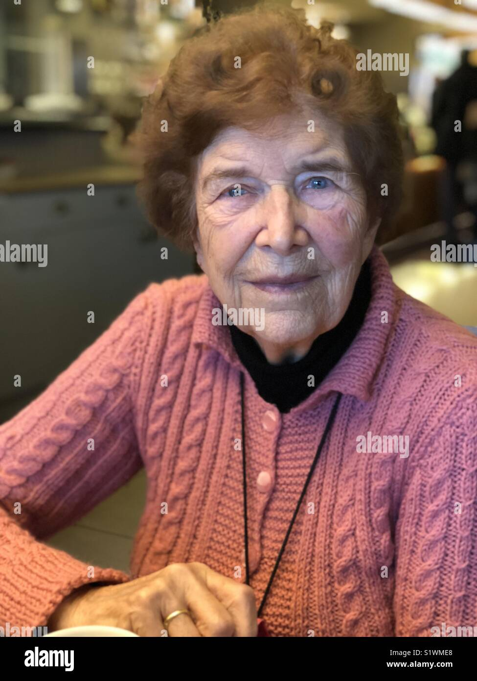 Old german woman portrait - Stock Image