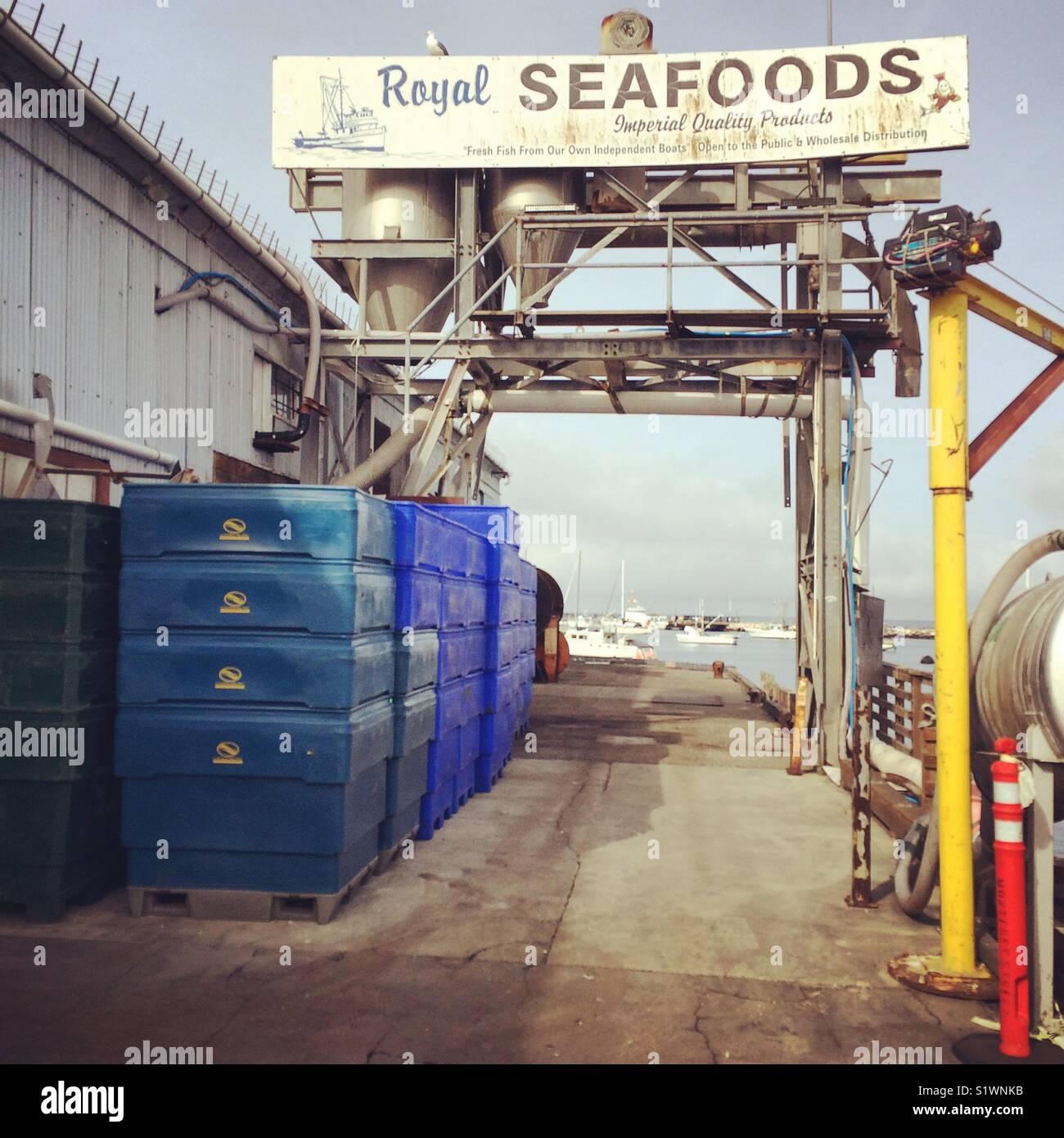 Royal Seafoods, Monterey Municipal Wharf 2, Monterey, California - Stock Image