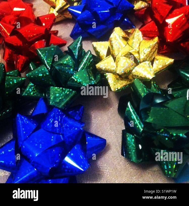 Present bows - Stock Image