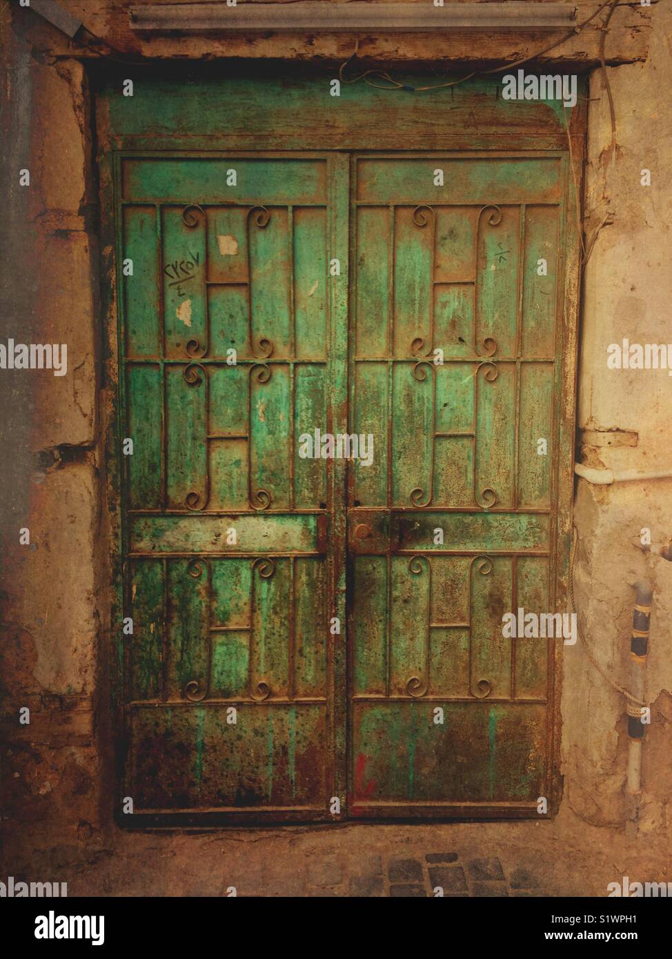 Old rusty gate at Historic Jeddah Saudi Arabia - Stock Image