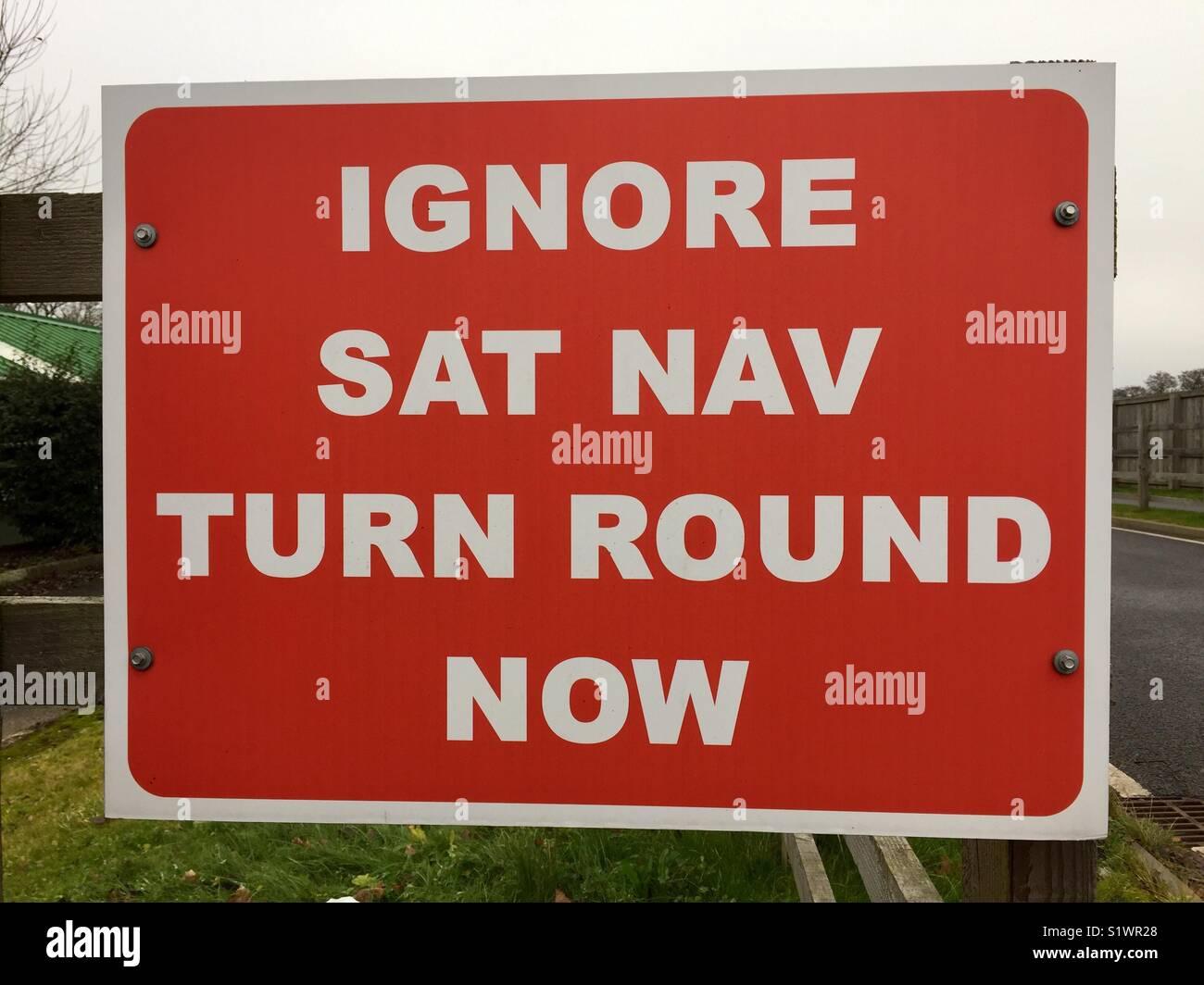 Sat Nav misdirection - Stock Image