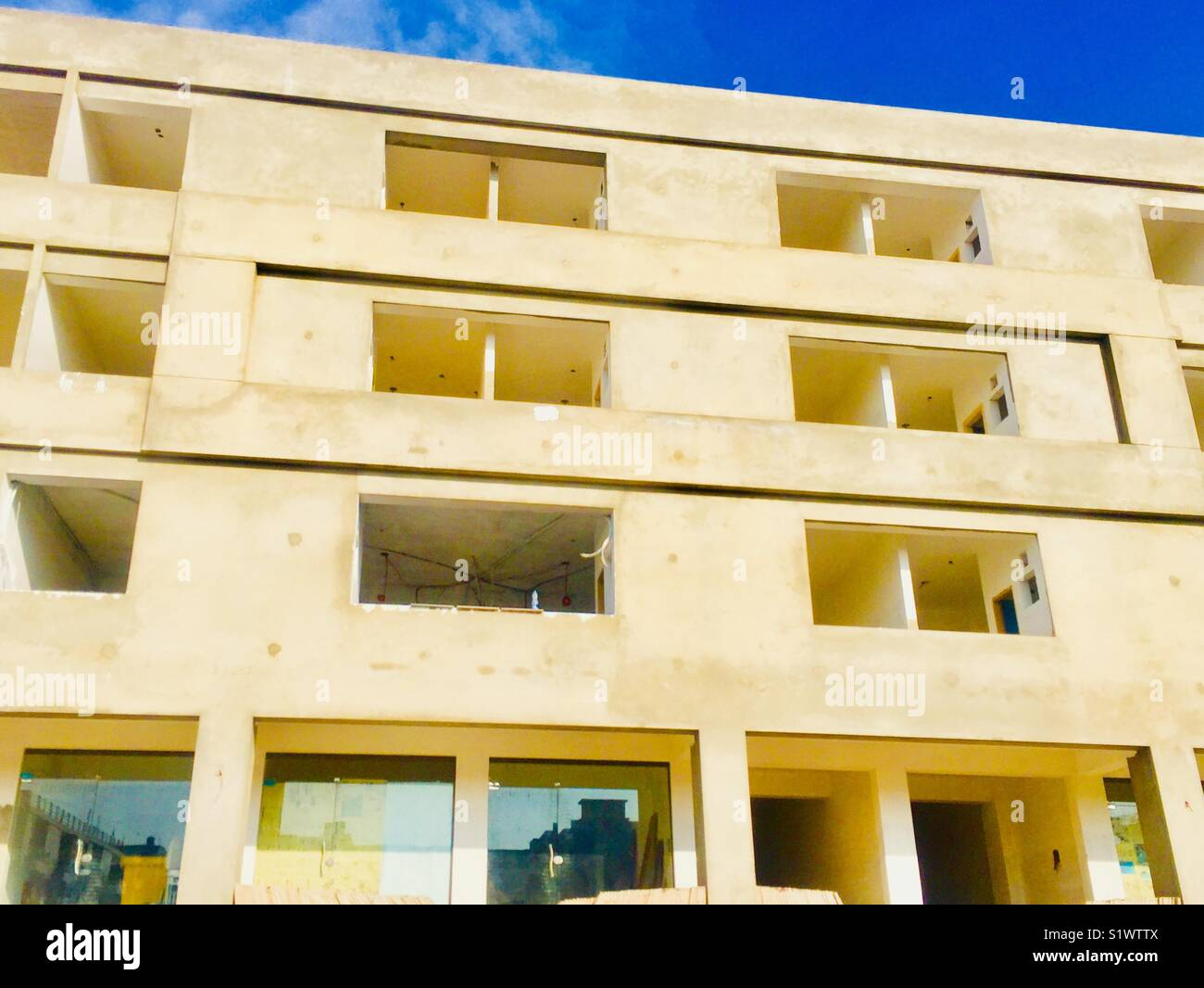 Incomplete building in Islamabad city Pakistan - Stock Image