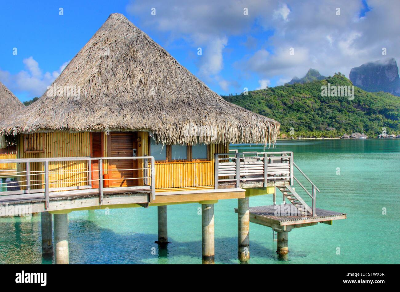Overwater Bungalow On The Island Of Bora Bora In French