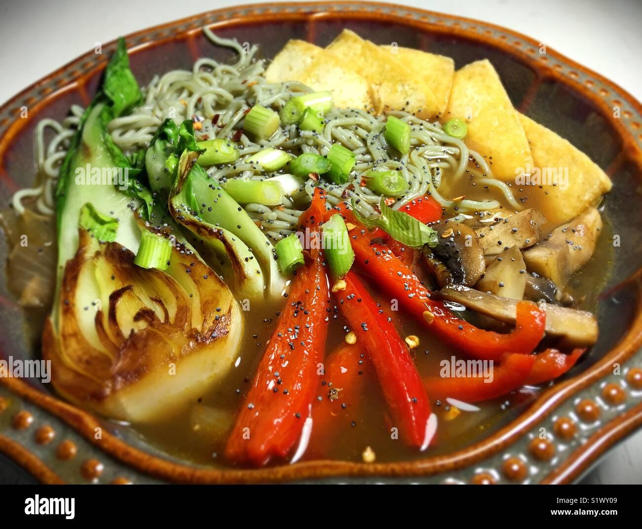 A bowl of ramen. - Stock Image