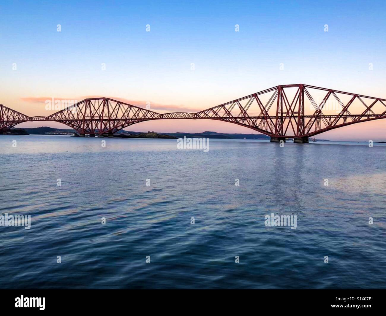 Forth Bridge over the River Forth from South Queensferry - 27 December 2017 - Photographer : Brian Duffy - Stock Image