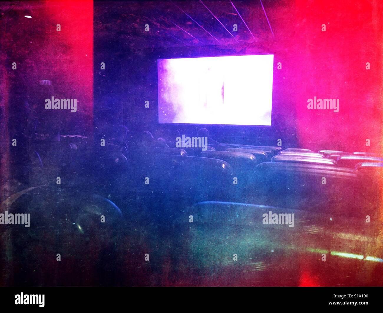 Cinema screen - Stock Image