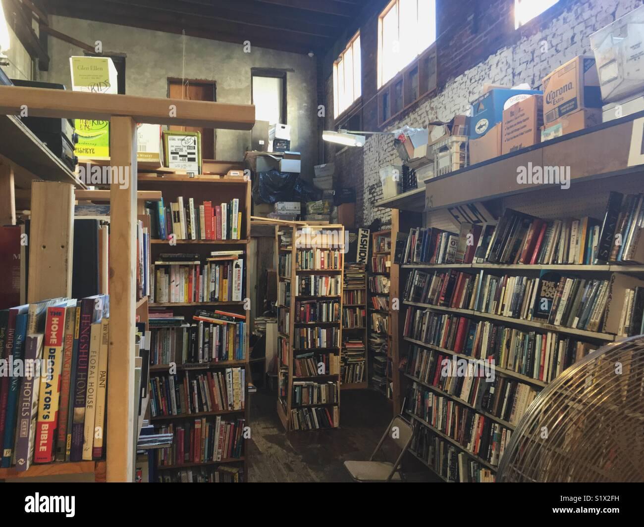Secondhand Bookstore in Philadelphia - Stock Image