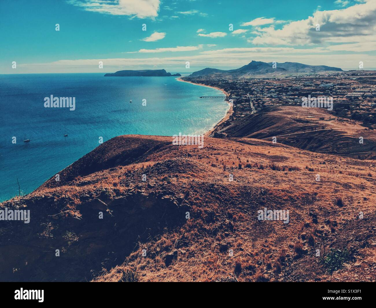 Landscape photography in Porto Santo - Stock Image