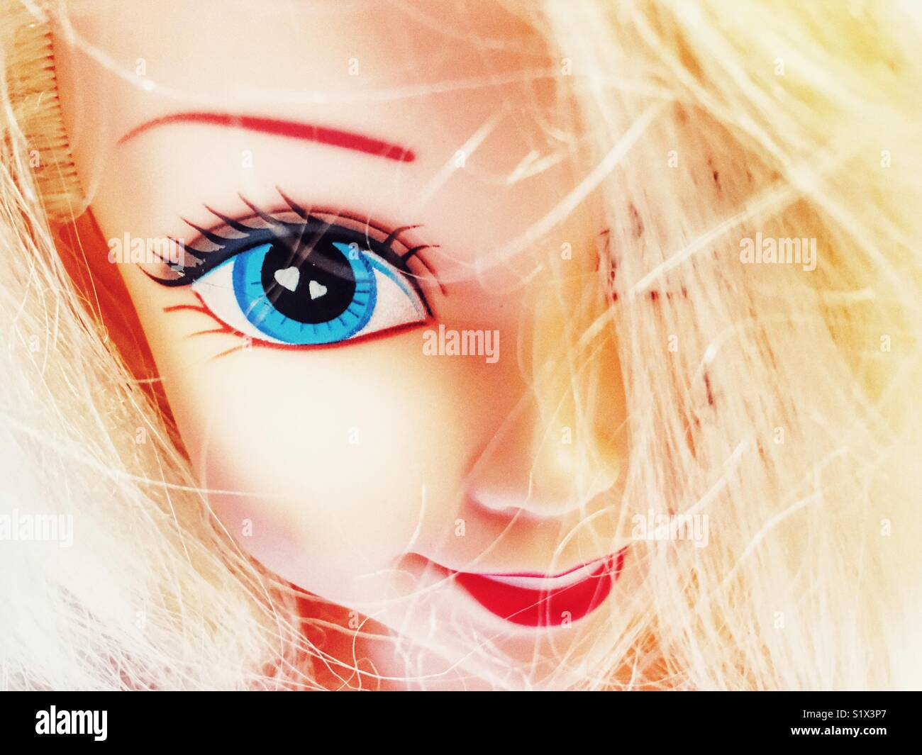 Blonde haired doll - Stock Image