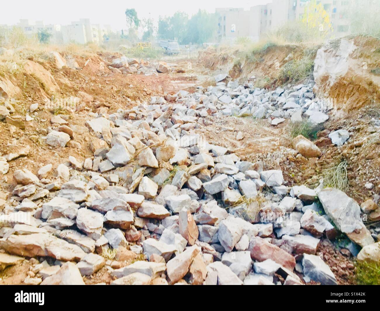 Construction work in process in beautiful city Islamabad Pakistan - Stock Image