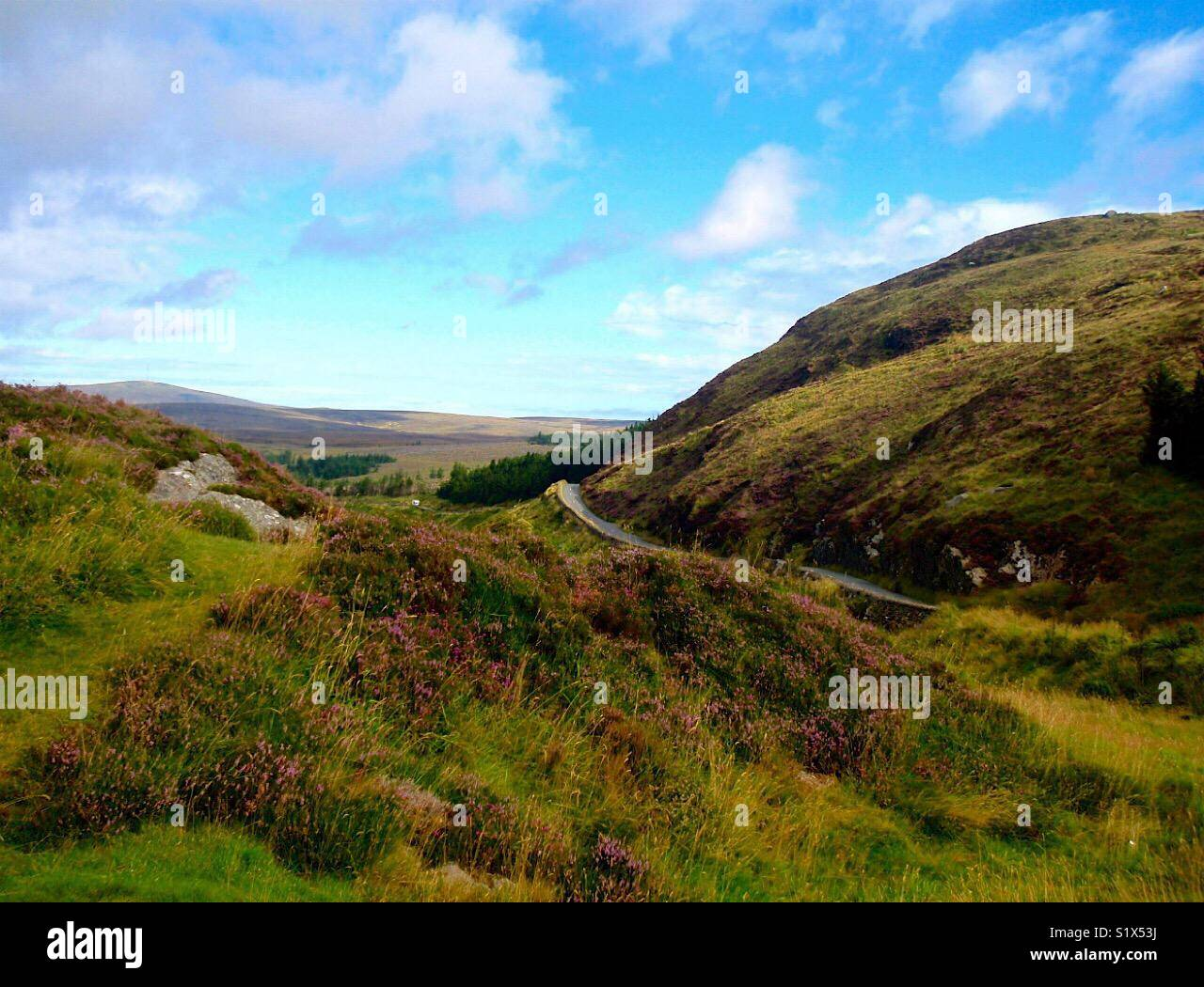 Ireland mountain road Stock Photo