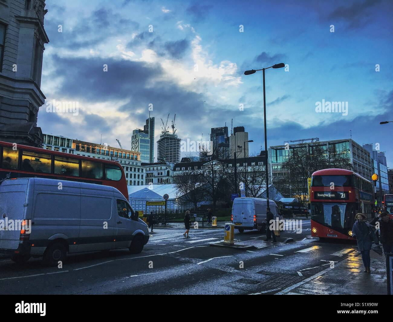 A photograph of the Moorgate in Islington, London - Stock Image