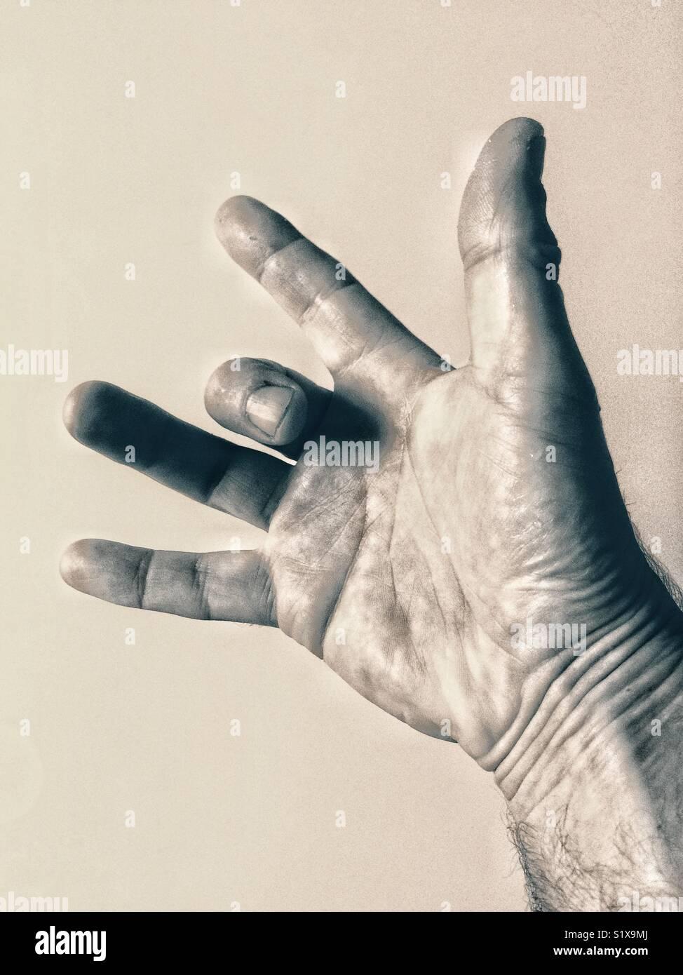 Trigger finger - Stock Image