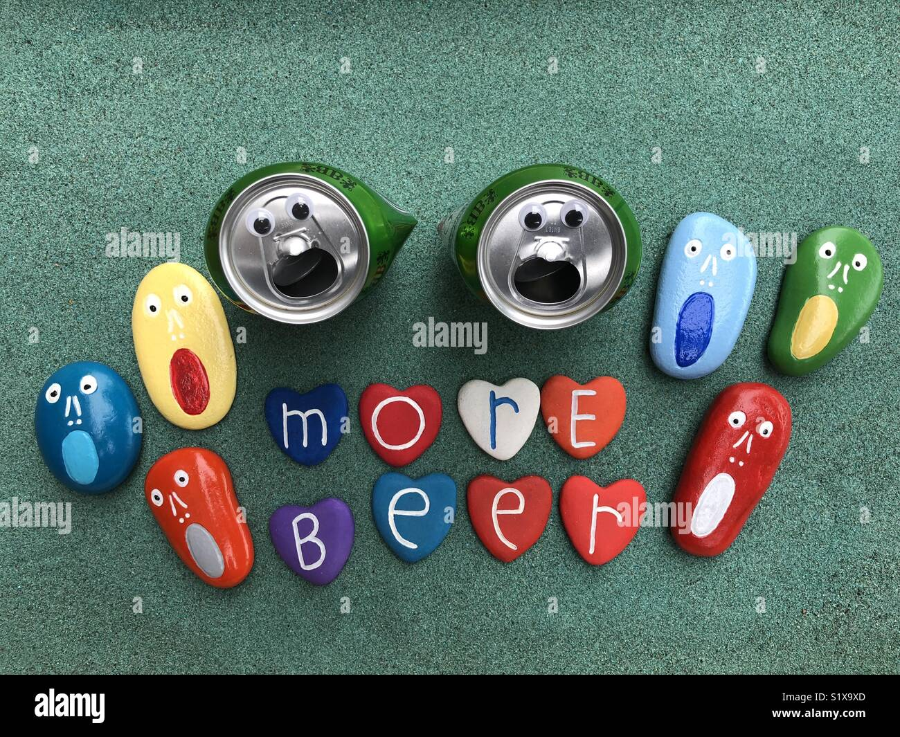 We need more beer - Stock Image