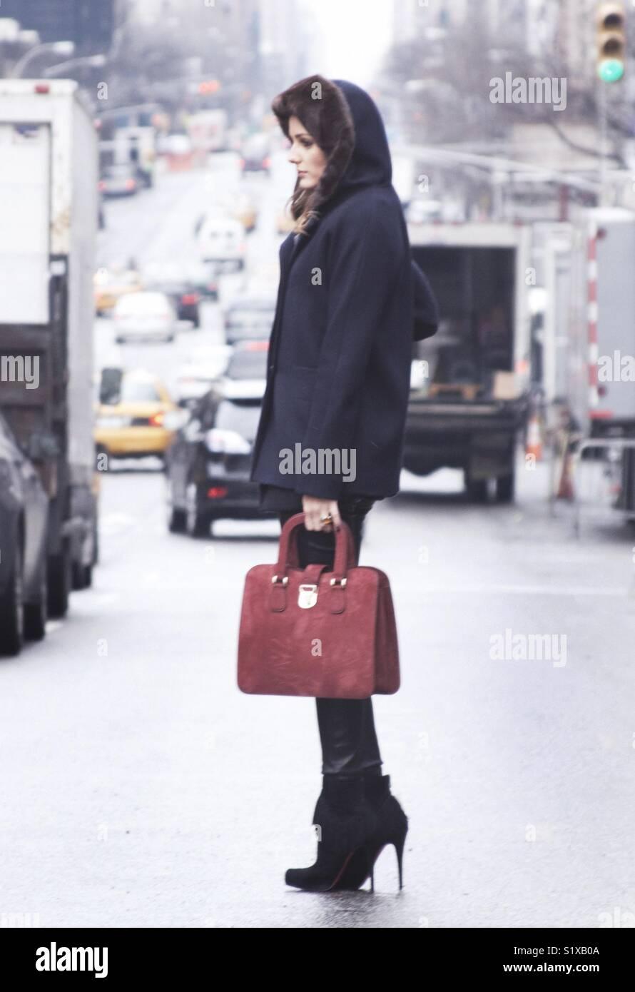 Olivia Palermo New York Fashion Week Fall Winter Stock Photo Alamy