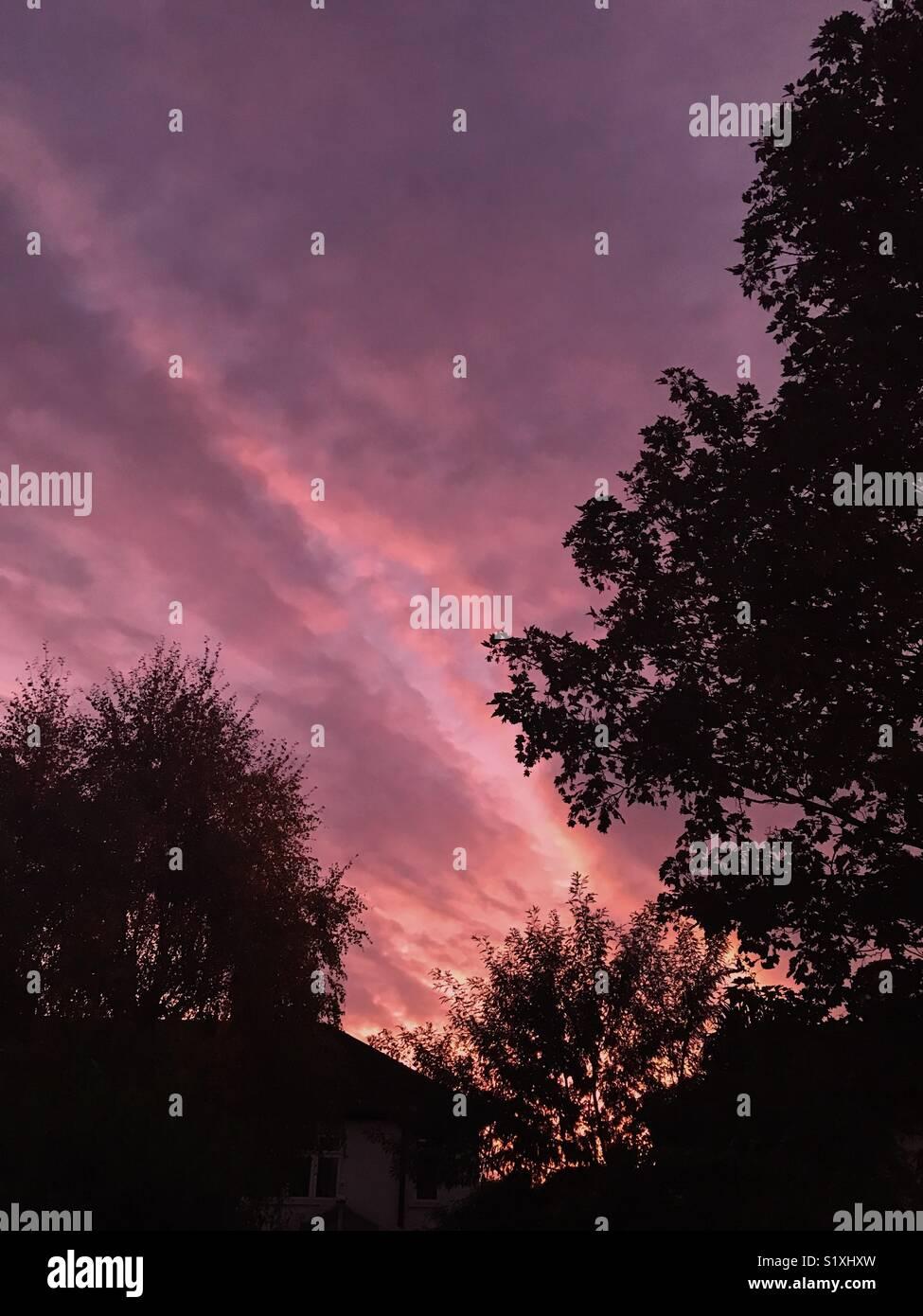 Colourful sunset - Stock Image
