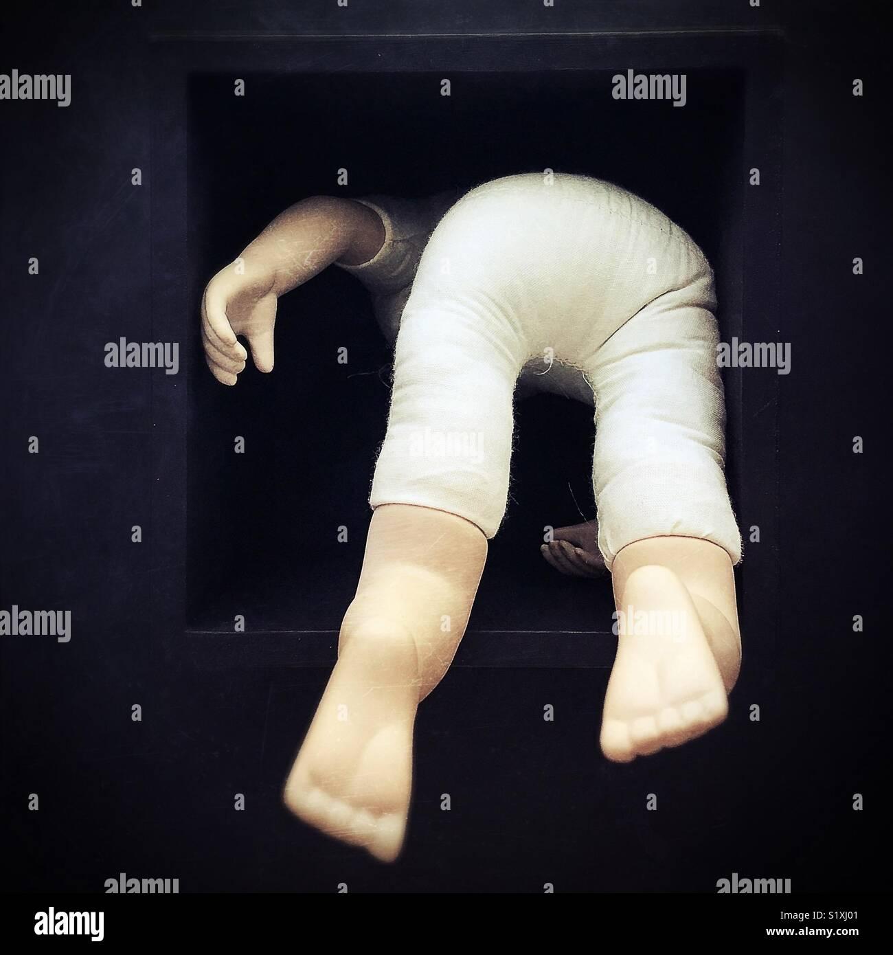 Conceptual: facing fear. - Stock Image