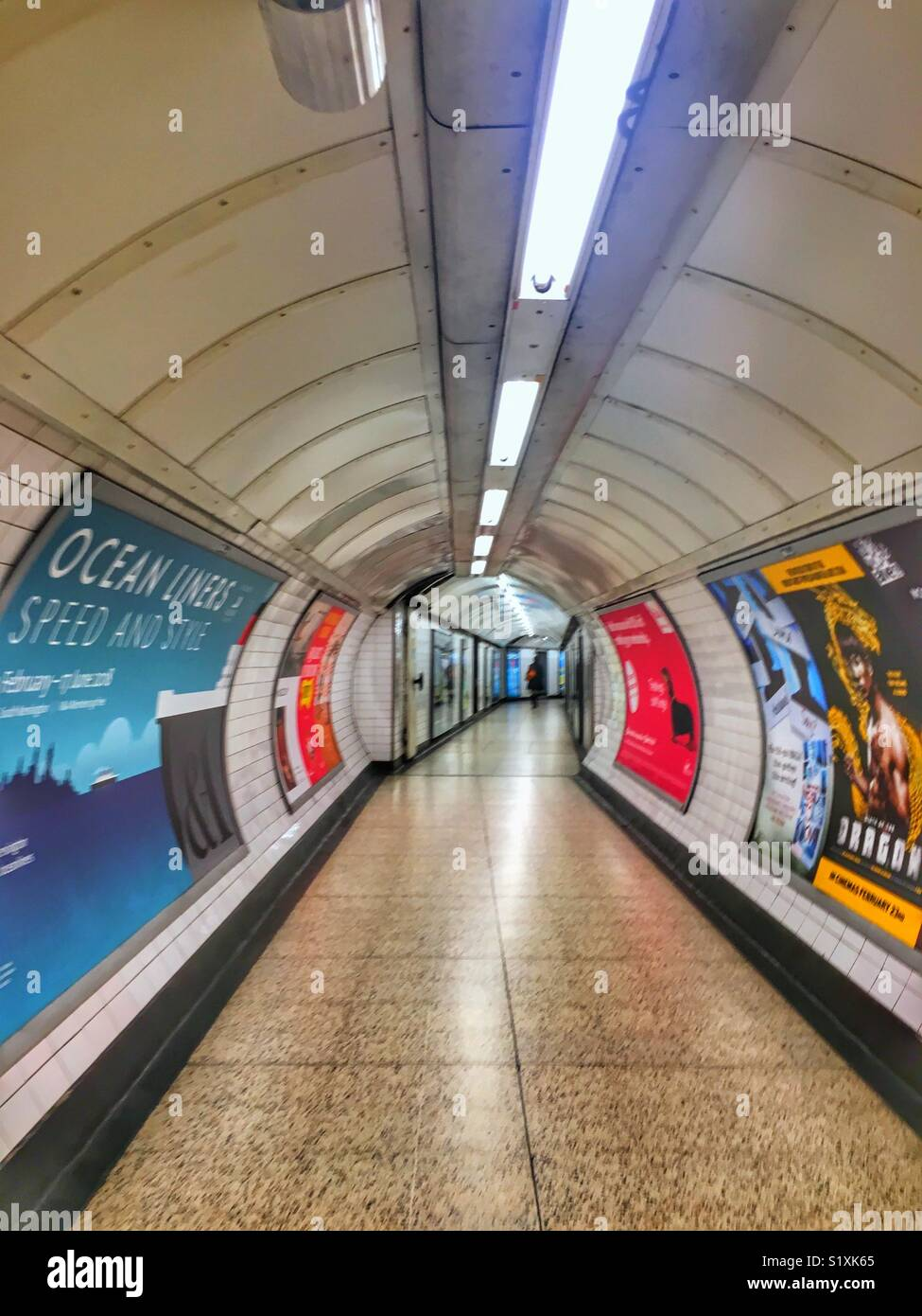Tube tunnel - Stock Image