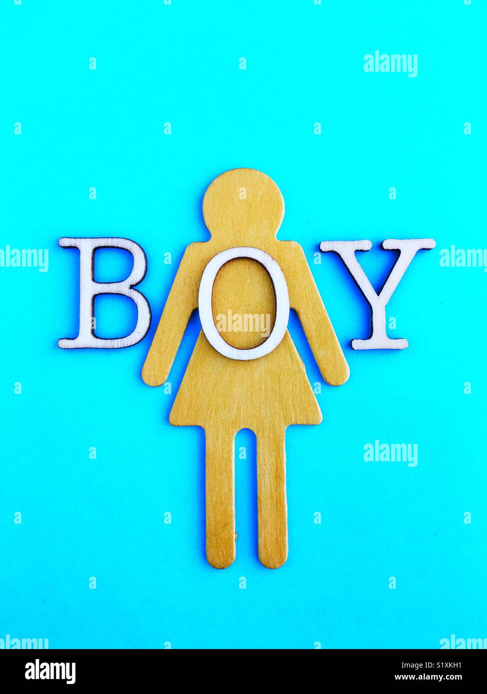Conceptual: gender identification. - Stock Image