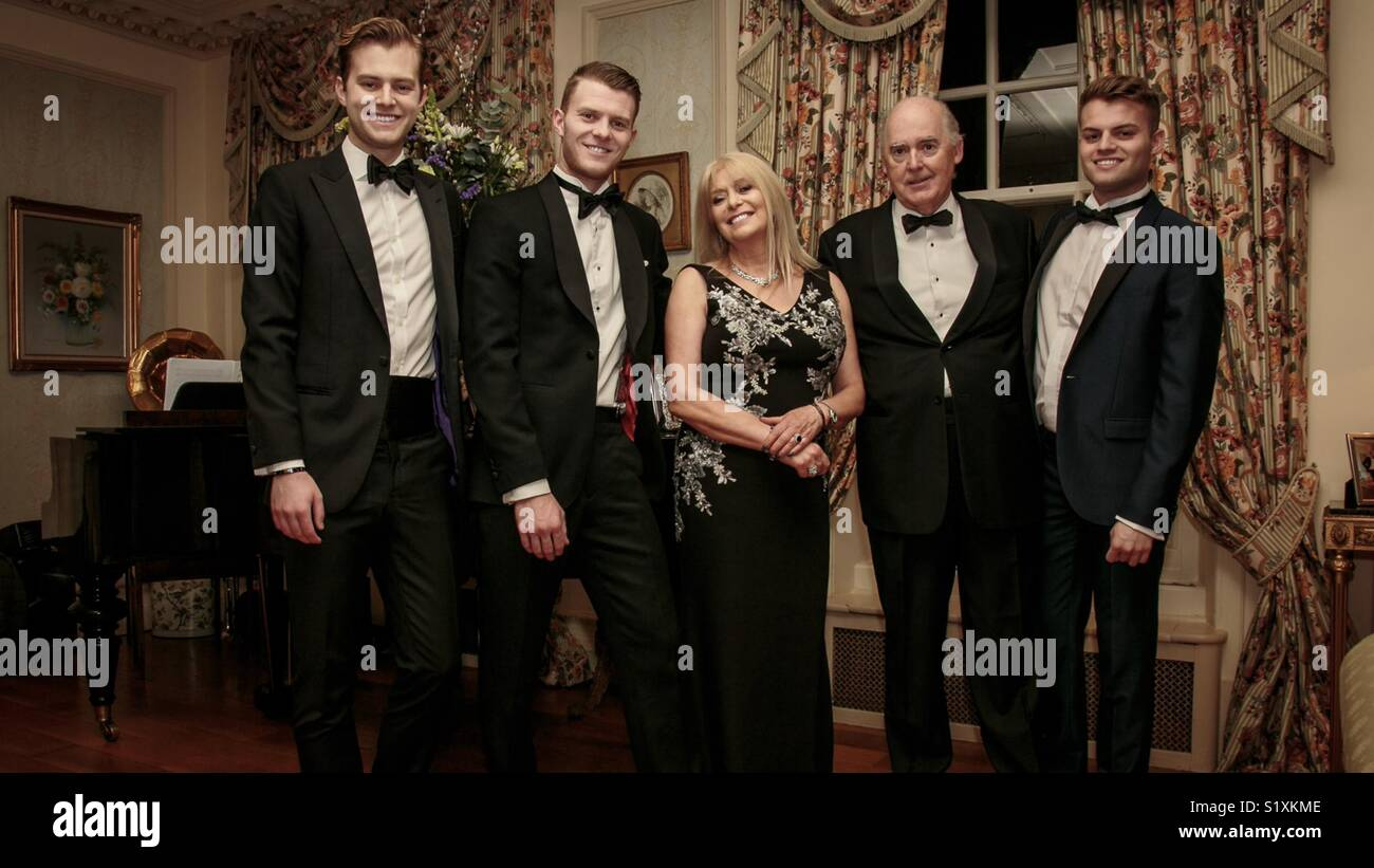 Charlie Mills, Jonathan Mills, Susan Mills, Robert Everist, Harry Mills Stock Photo