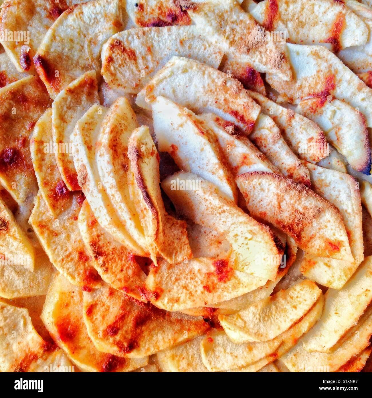Apple pie gluten free home made - Stock Image