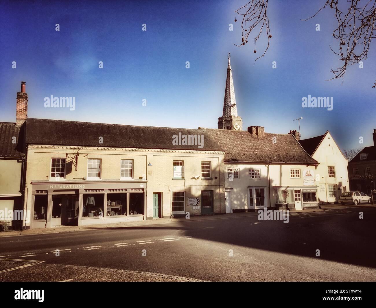 Wickham Market Suffolk UK - Stock Image