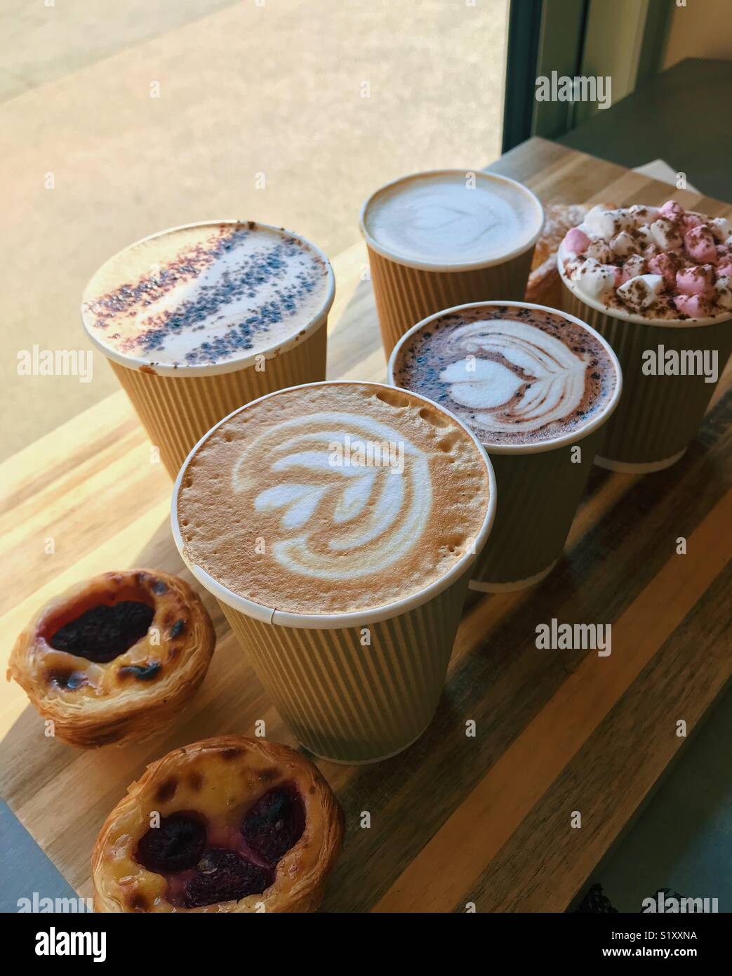 Coffee And Treats ~ Portuguese coffee stock photos