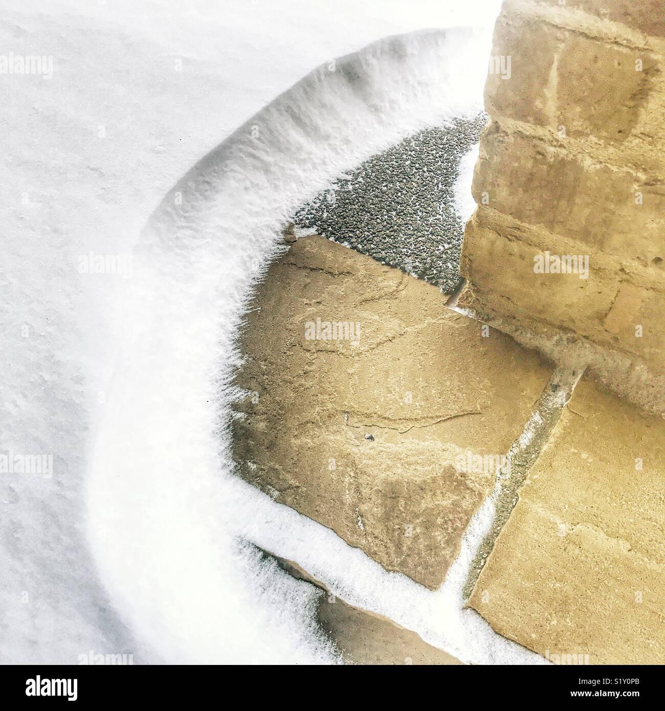 Mini snowdrift - Stock Image