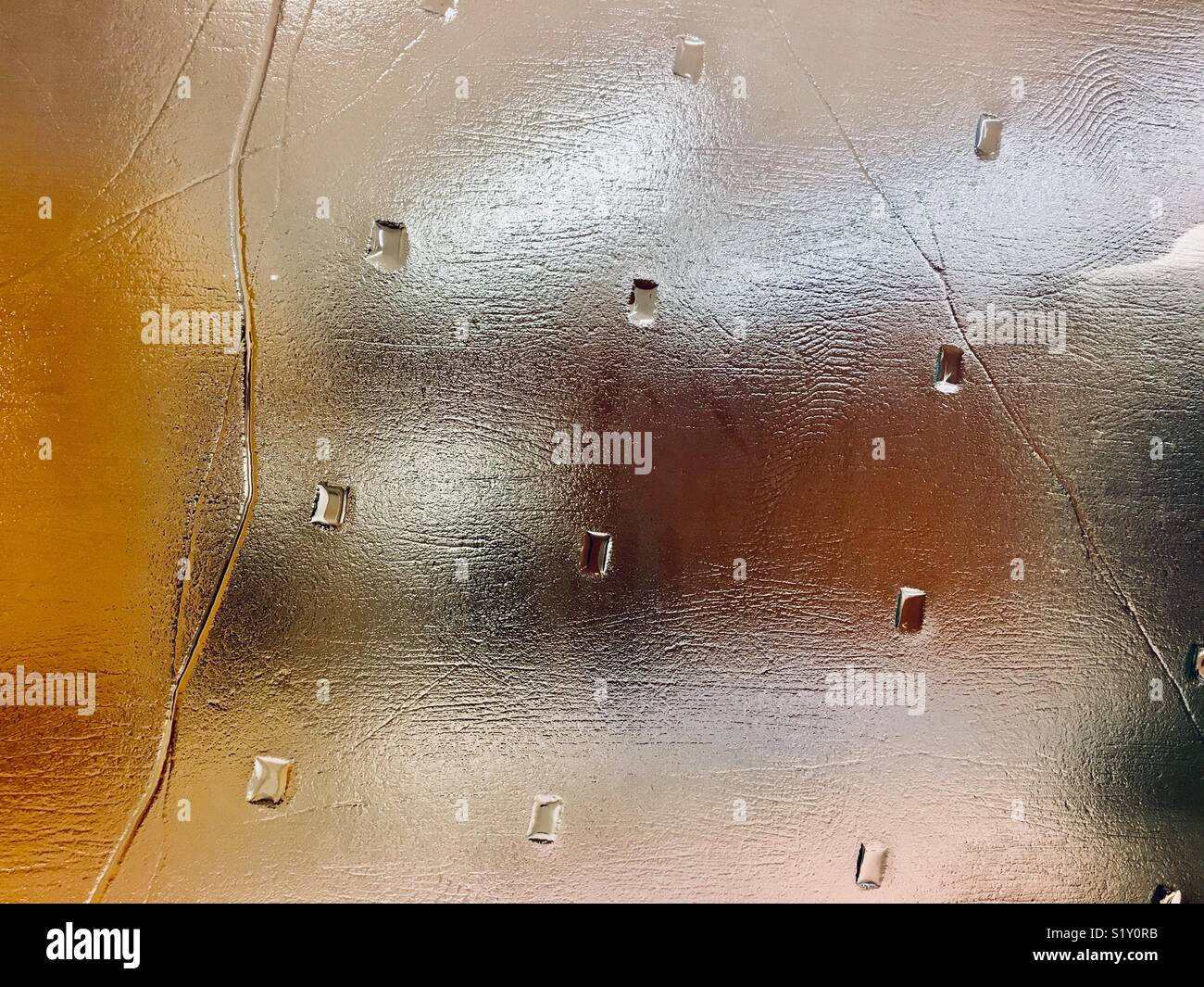 View through patterned opaque glass - Stock Image