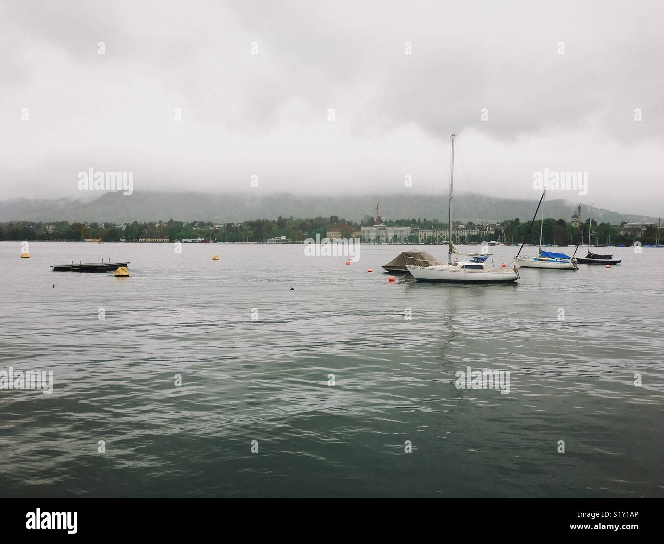 Lake in Zurich - Stock Image