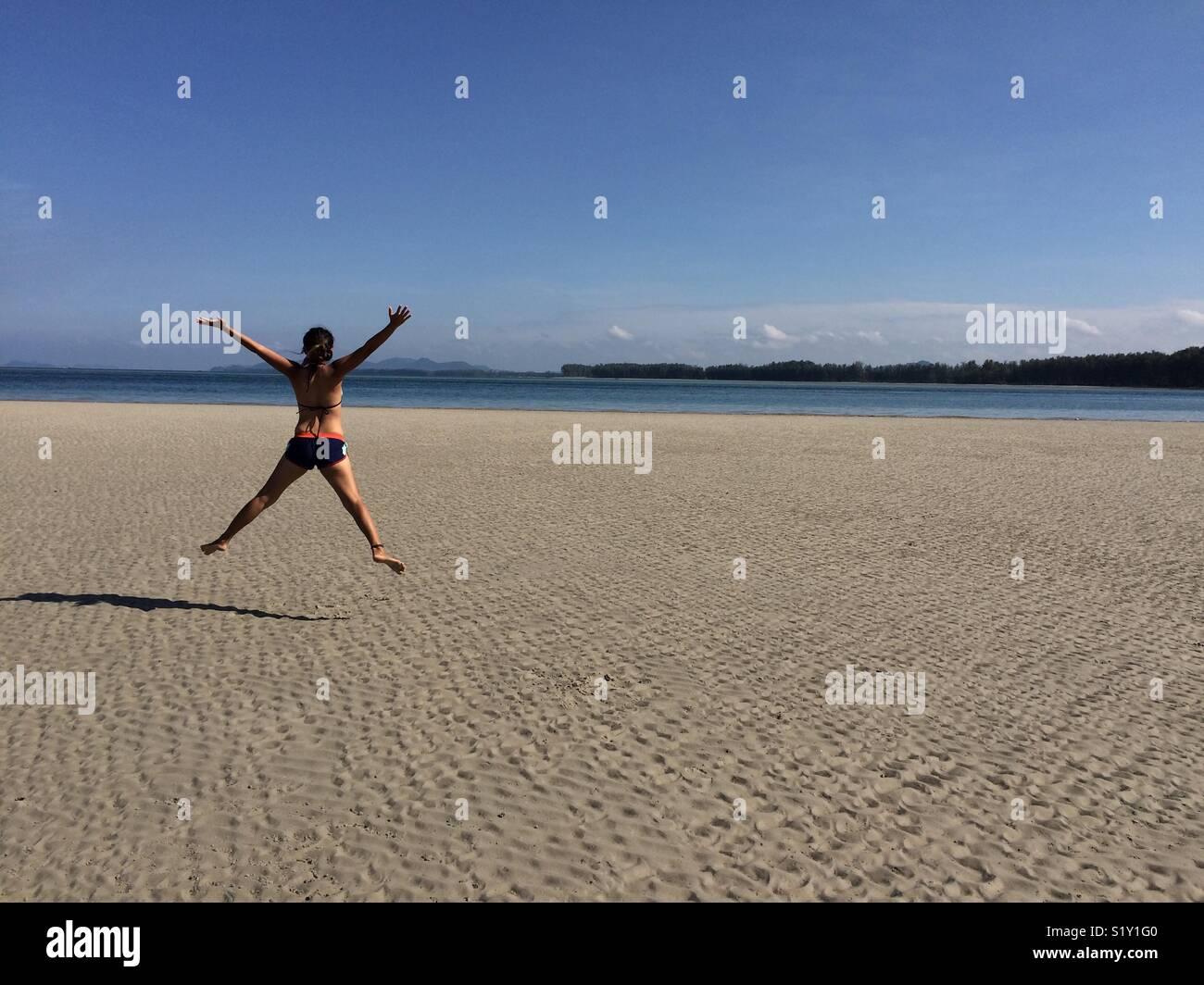 Beach fun - Stock Image