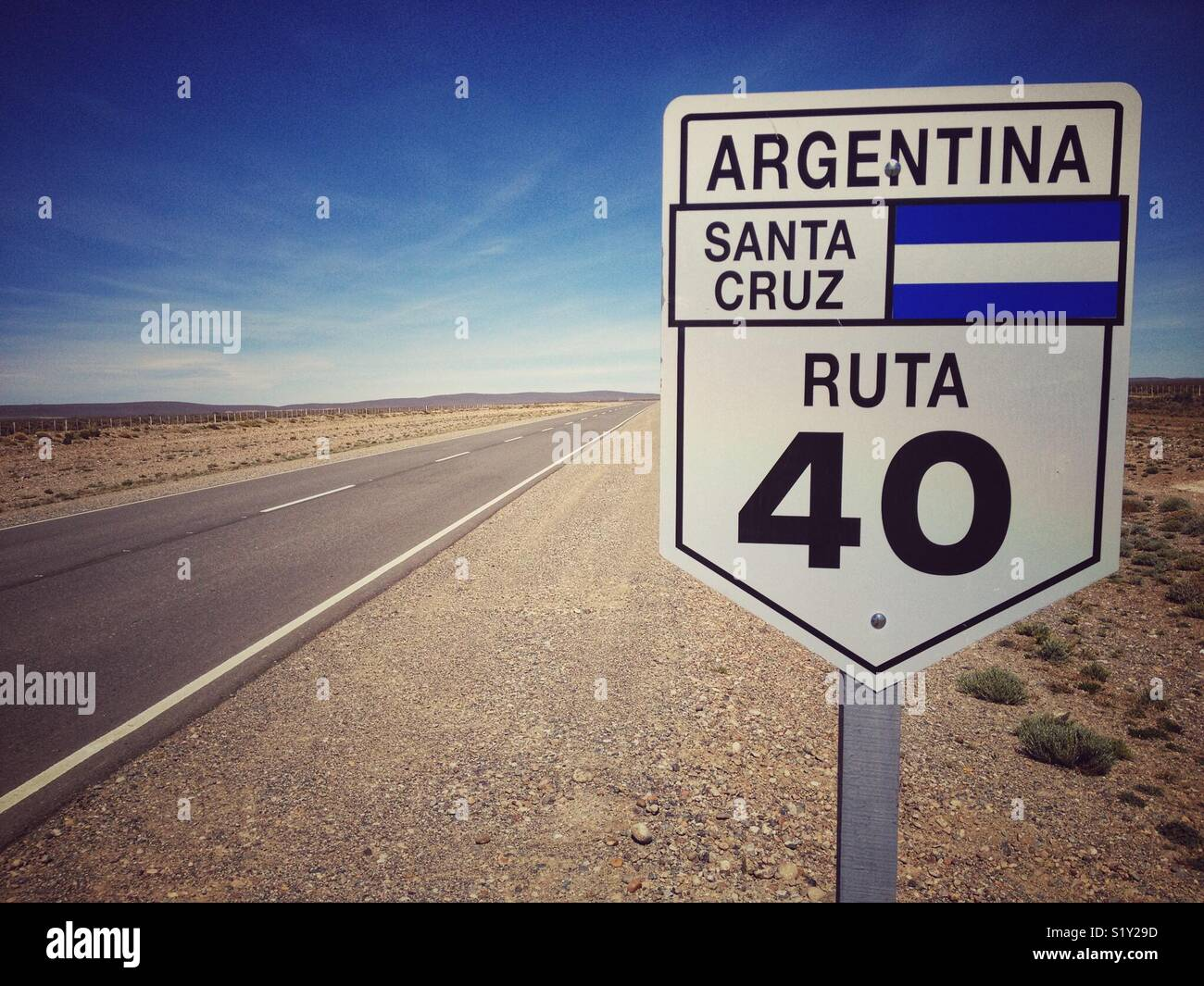 endless Ruta 40 in Argentina - Stock Image