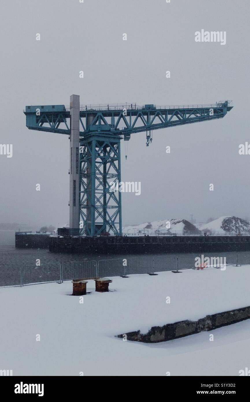 Titan Crane Clydebank - Stock Image
